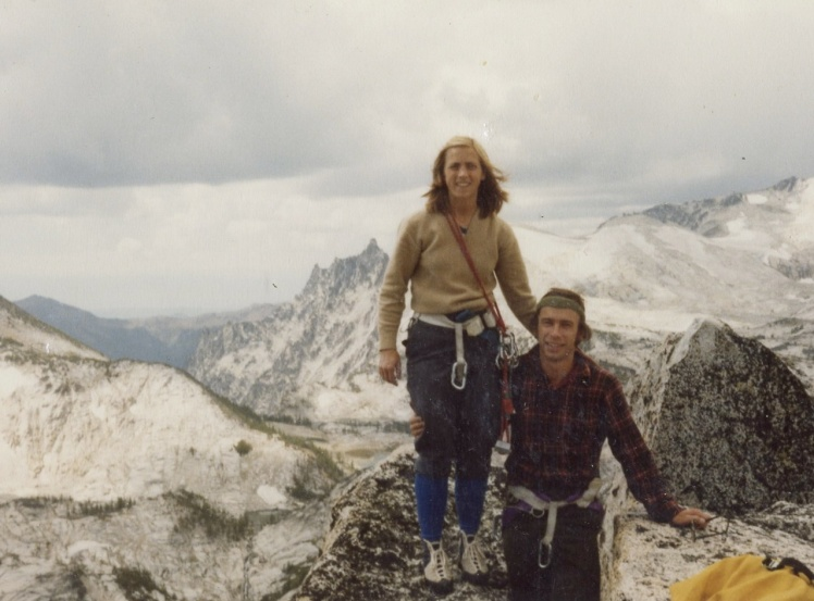 My parents on the summit of Prusik Peak in the late 1970s.