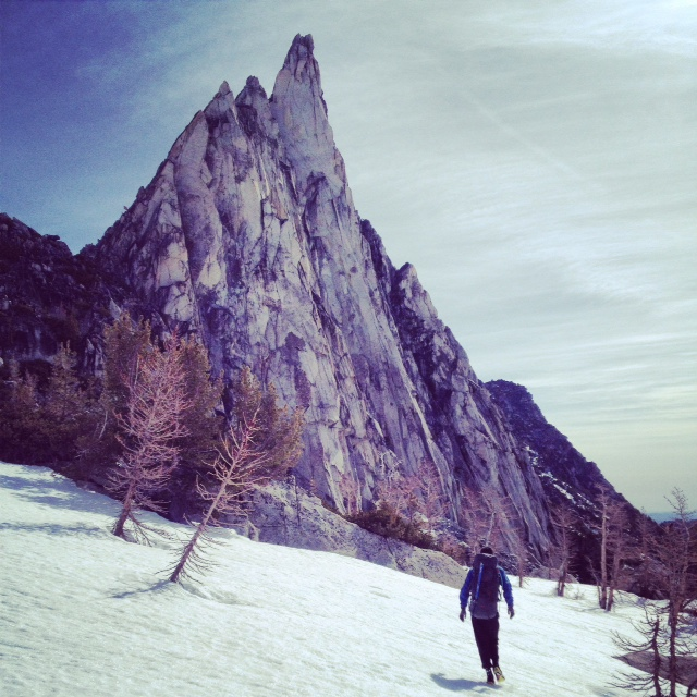 The mighty Prusik Peak.